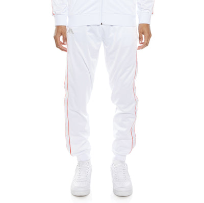 Logo Tape Alic 2 Trackpants - White Grey Orange