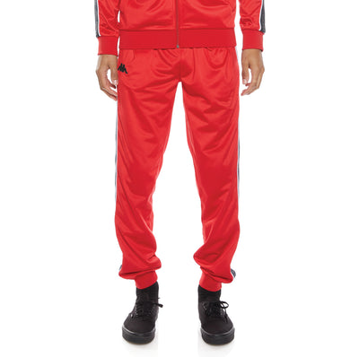 Logo Tape Alic 2 Trackpants - Red Black Grey