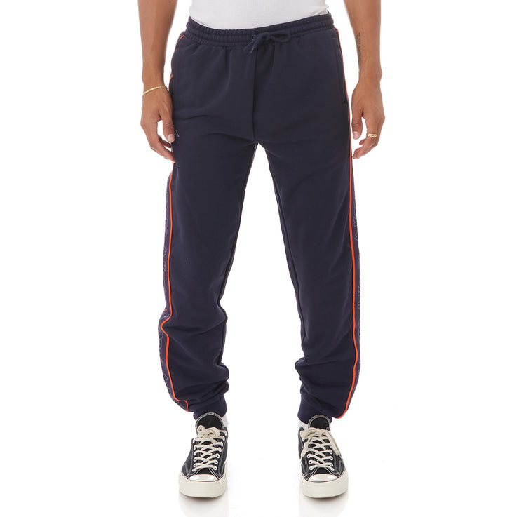 Kappa Logo Tape Anira 2 Sweatpants - Blue Marine Orange