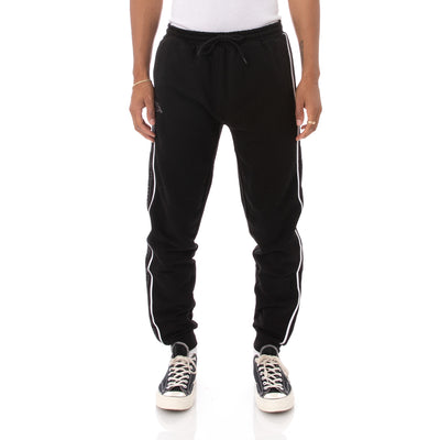 Kappa Logo Tape Anira 2 Sweatpants - Black Grey White