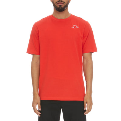 Logo Fleece Caferok T-Shirt - Red Coral