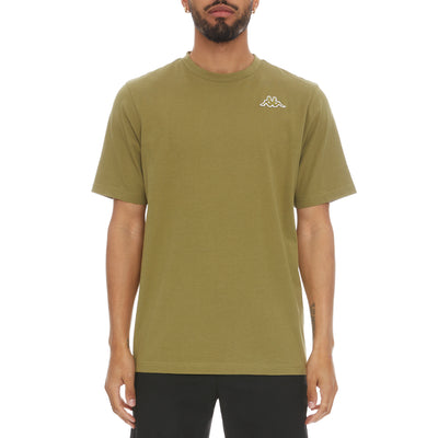 Logo Fleece Caferok T-Shirt - Green Olive