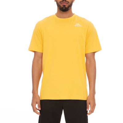Logo Fleece Caferok T-Shirt - Yellow