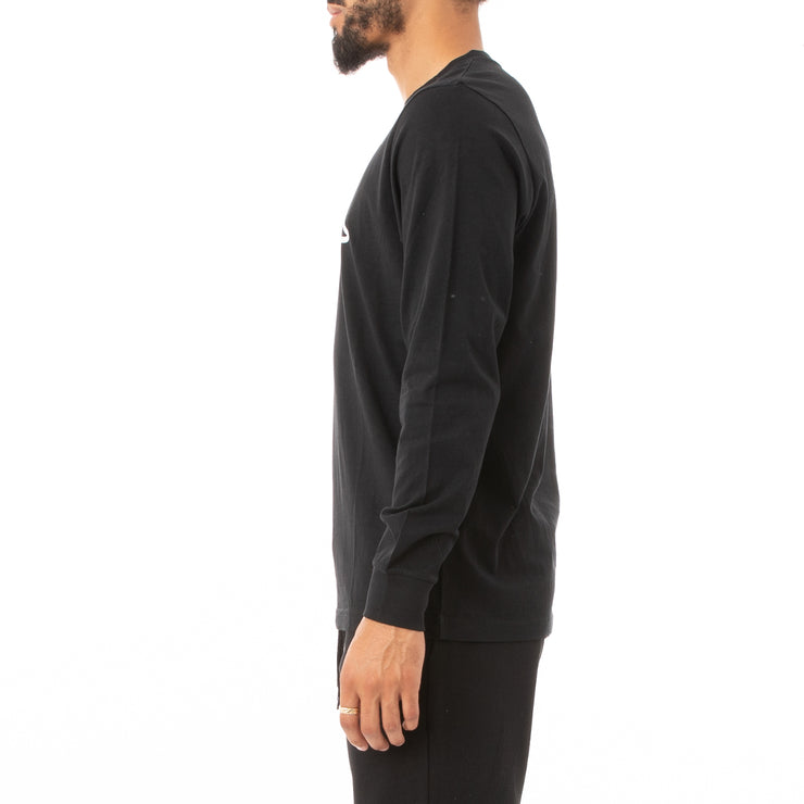 Logo Fleece Zabiarok Long Sleeve T-Shirt - Black