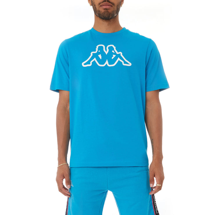 Kappa Logo Fleece Cromok T-Shirt - Blue