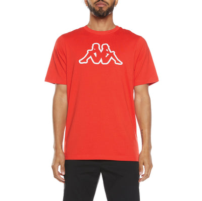 Logo Fleece Cromok T-Shirt - Red Coral