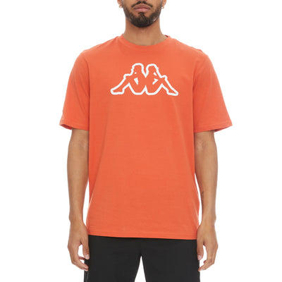 Logo Fleece Cromok T-Shirt - Orange