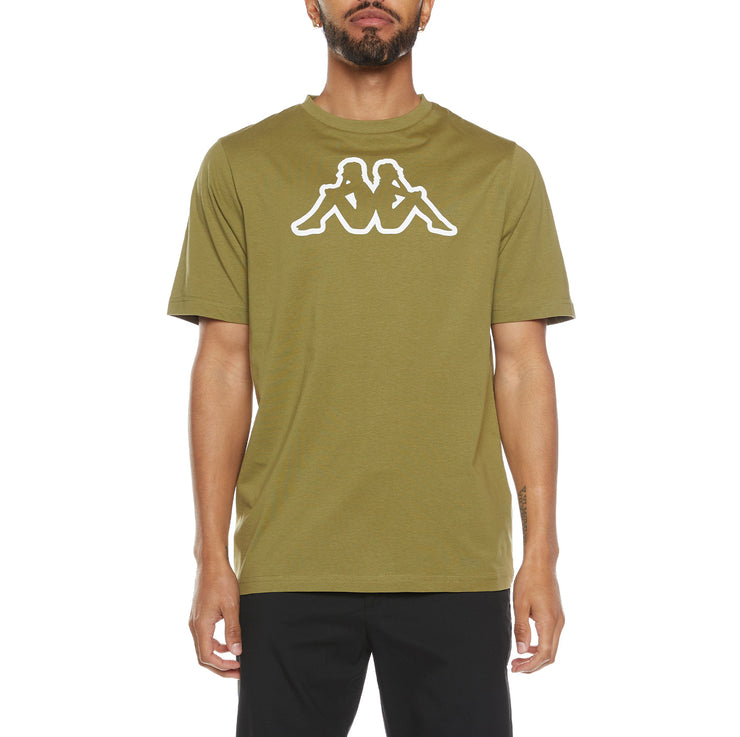 Logo Fleece Cromok T-Shirt - Green Olive