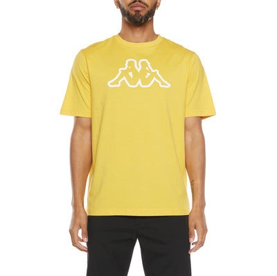 Logo Fleece Cromok T-Shirt - Yellow