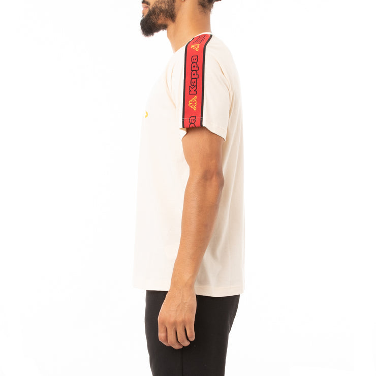 Kappa Logo Tape Avirec 2 T-Shirt - Pink Red Gold