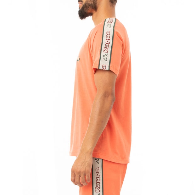 Kappa Logo Tape Avirec 2 T-Shirt - Orange Green Red