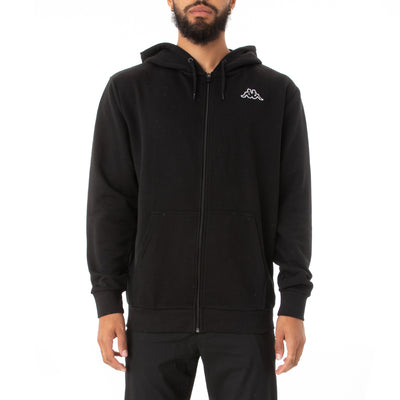 Logo Fleece Jackok Full Zip Jacket - Black