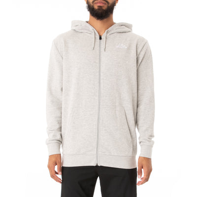 Logo Fleece Jackok Full Zip Jacket - Grey Md Mel