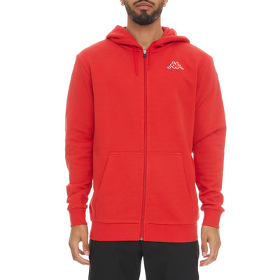 Logo Fleece Jackok Full Zip Jacket - Red Coral