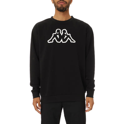 Logo Fleece Dafok Sweatshirt - Black