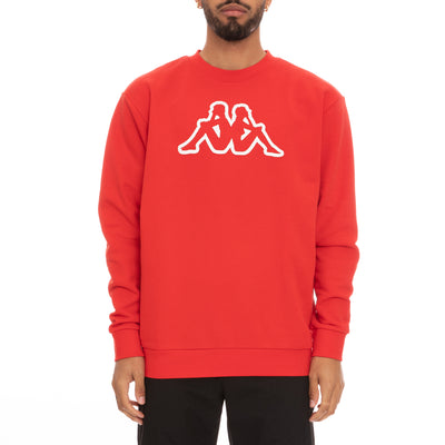 Logo Fleece Dafok Sweatshirt - Red