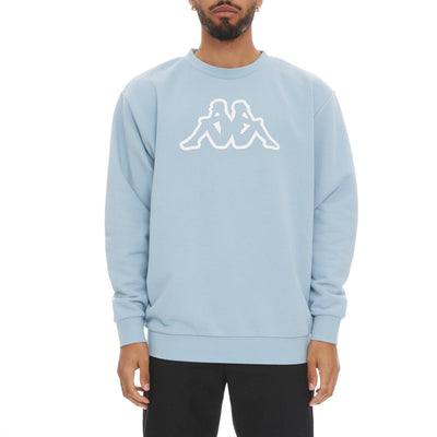 Logo Fleece Dafok Sweatshirt - Blue Lt