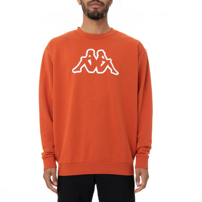 Logo Fleece Dafok Sweatshirt - Orange