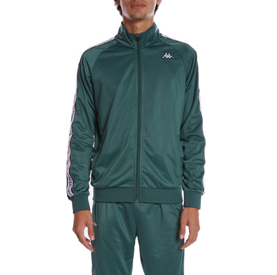 Kappa Logo Tape Artem 2 Track Jacket - Green Pine White Black