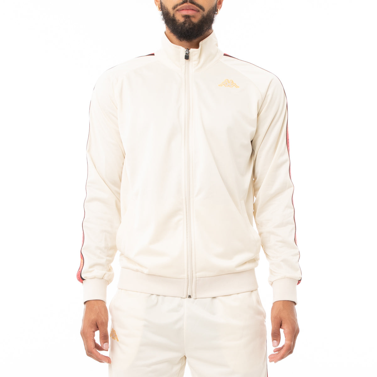Kappa Logo Tape Artem 2 Track Jacket - Pink Red Gold