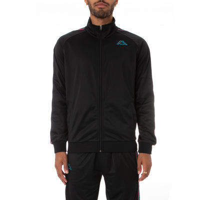 Kappa Logo Tape Artem 2 Track Jacket - Black