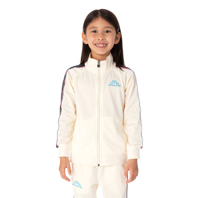 Kids Logo Tape Artem 2 Track Jacket - Cream
