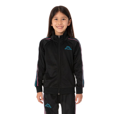 Kids Logo Tape Artem 2 Track Jacket - Black