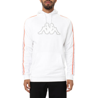 Logo Tape Apetid 2 Hoodie - White Grey Orange