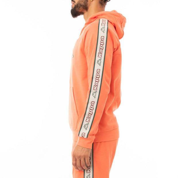 Kappa Logo Tape Apet 2 Hoodie - Orange Red Green