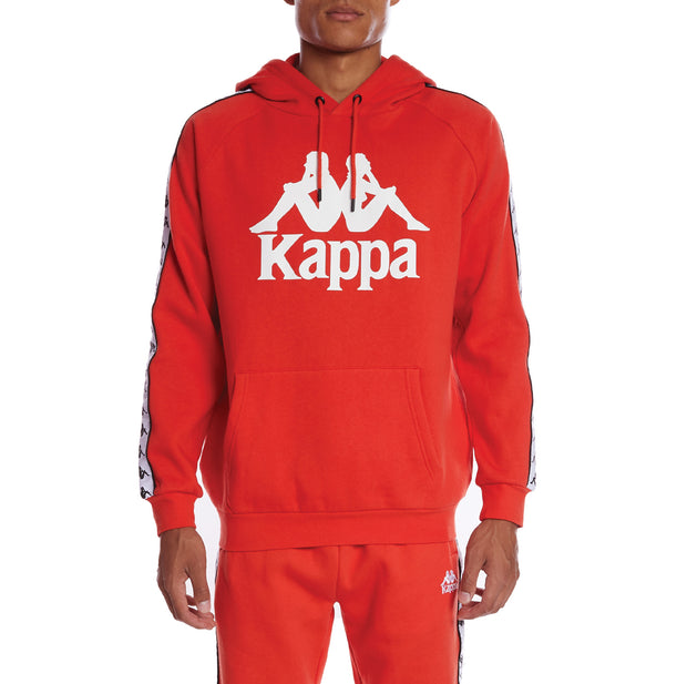 Kappa 222 Banda Hurtado 2 Hoodie - Orange Flame White