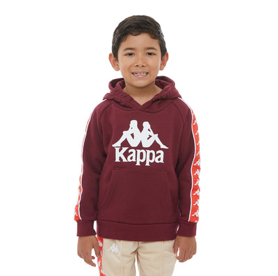 Kids 222 Banda Hurtado 2 Hoodie - Red Dahlia Orange