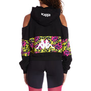Kappa Authentic Delia Graphik 2 Zip Hoodie - Black Graphic Cheetah