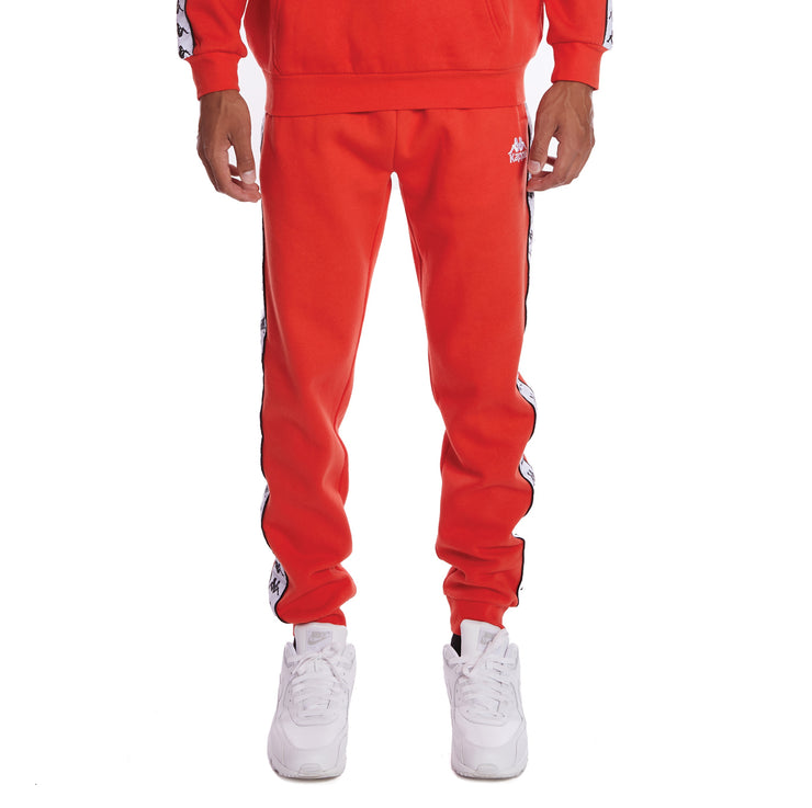 Kappa 222 Banda Alanz 2 Sweatpants - Orange Flame White