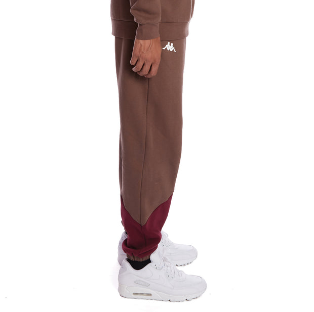 Kappa 222 Banda Daniss 2 Sweatpants - Grey Russet Red Dahlia White