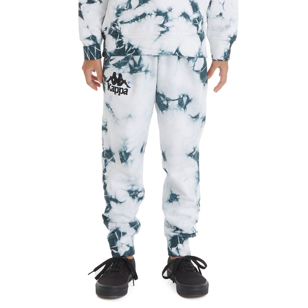 Kappa Kids 222 Banda Daltimor 2 Marbled Sweatpants - White Black