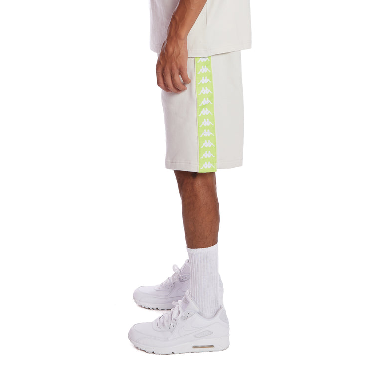 Kappa 222 Banda Marvz 2 Shorts - Grey Vapor Lime Green