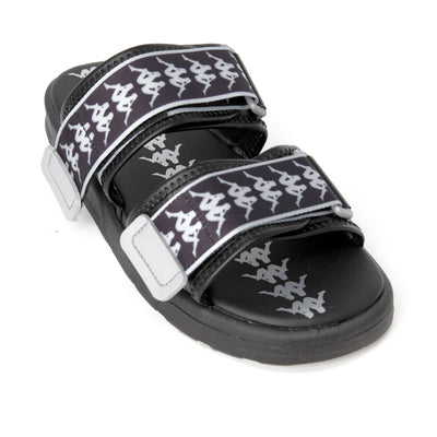 222 Banda Aster 2 Sandals - Black Silver