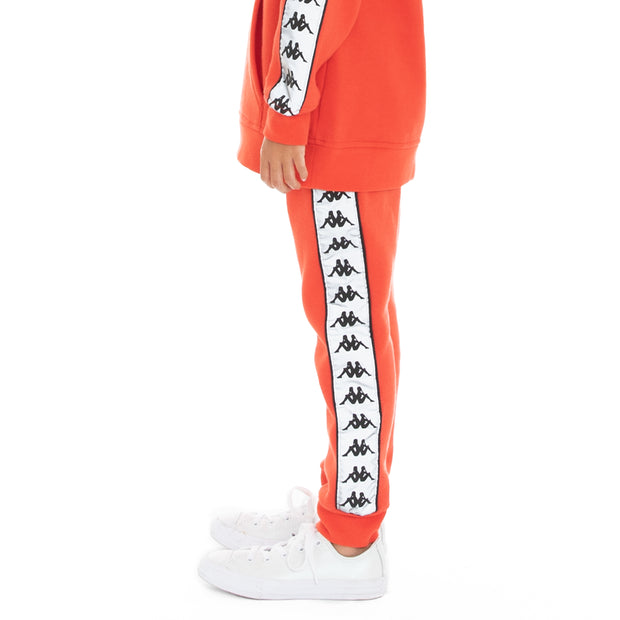 Kappa Kids 222 Banda Dariis 2 Reflective Sweatpants - Orange Flame Silver