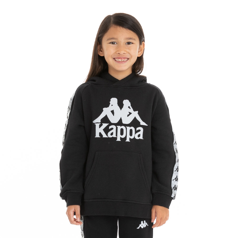 Kappa Kids 222 Banda Deniss 2 Reflective Hoodie - Black Grey Reflective
