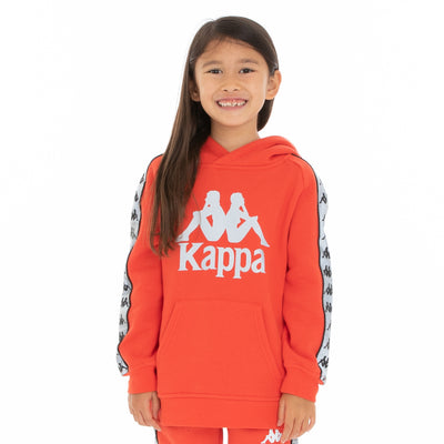 Kids 222 Banda Deniss 2 Reflective Hoodie - Orange Flame