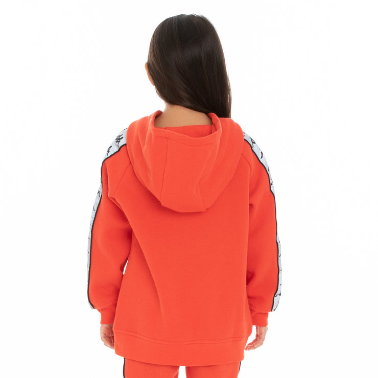 Kappa Kids 222 Banda Deniss 2 Reflective Hoodie - Orange Flame Silver