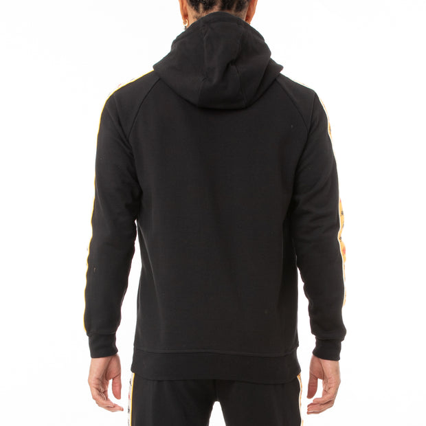 Kappa 222 Banda Hurtado 3 Hoodie - Black Red Yellow  Gold