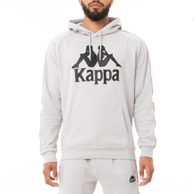 Kappa 222 Banda Hurtado 3 Hoodie - Grey Blue Red