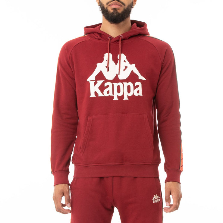 Kappa 222 Banda Hurtado 3 Hoodie - Red Dark Orange Green
