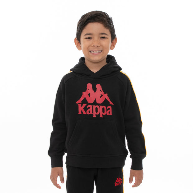Kappa Kids 222 Banda Hurtado 3 Hoodie - Black Red Yellow Gold