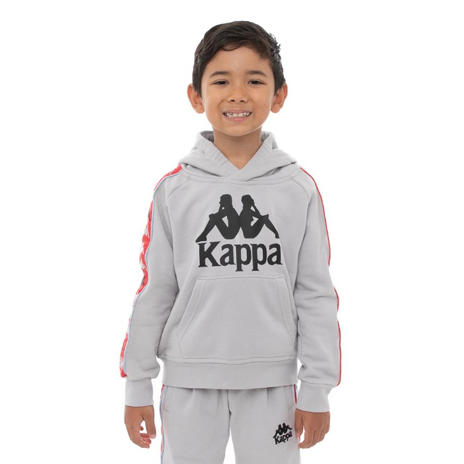 Kappa Kids 222 Banda Hurtado 3 Hoodie - Grey Blue Red