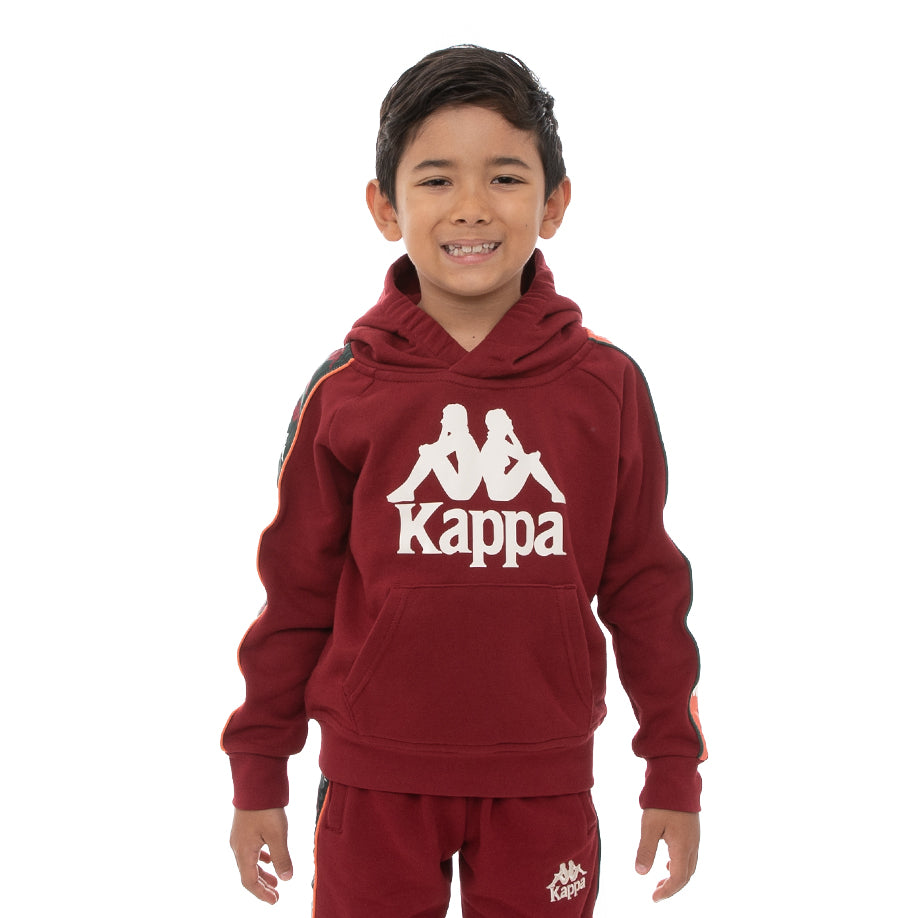 Kappa Kids 222 Banda Hurtado 3 Hoodie - Red Dark Orange Green