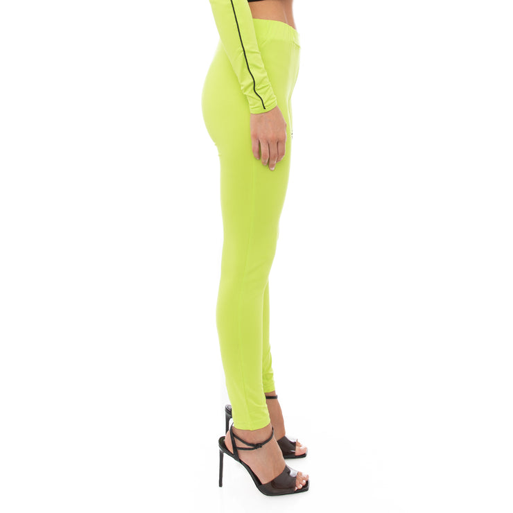 Authentic Shadow Salber Leggings - Lime