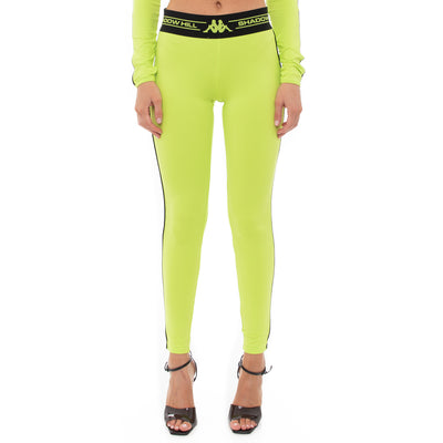 Authentic Shadow Sanke Leggings - Lime