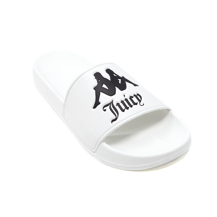 Authentic Juicy Couture Adam Slides - White Black